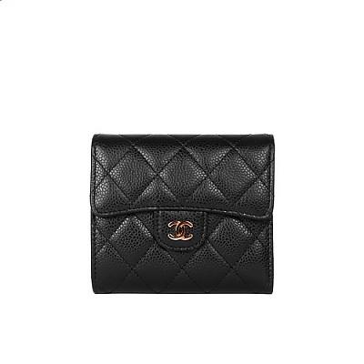 [스페셜오더]CHANEL-A82288 샤넬 클래식 캐비어 스몰 골드 메탈 플랩 지갑