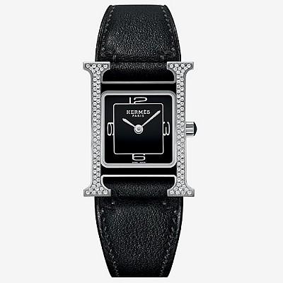 HERMES-에르메스 Heure H Double Jeu watch 블랙다이얼 레이디스 워치