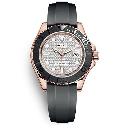 [스페셜오더]ROLEX-롤렉스 요트-마스터 에버로즈 골드 다이아몬드 파베 다이얼 시계40mm