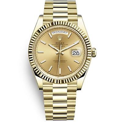 [스페셜오더]ROLEX-롤렉스 데이-데이트 옐로우 골드 샴페인다이얼 금장시계40mm