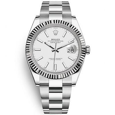 [스페셜오더]ROLEX-롤렉스 데이트저스트 데이트 스틸 화이트 다이얼 시계 41mm