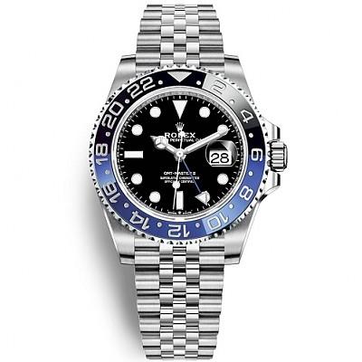 ★[AR팩토리]ROLEX-로렉스 GMT-마스터 II 블루/블랙 세라믹 베젤 스틸 쥬빌리 브레슬릿 남자시계 40mm