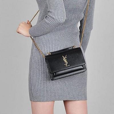 [스페셜오더]SAINT LAURENT-533026 생 로랑 블랙 선셋 체인 지갑