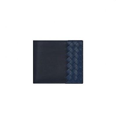 [스페셜오더]BOTTEGA VENETA-113993 보테가 베네타 블랙/퍼시픽 인트레치아토 VN 폴더 이미테이션 남성지갑