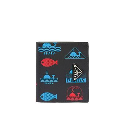 [스페셜오더]PRADA-2MO004 프라다 에일 모티프 프린트 지갑