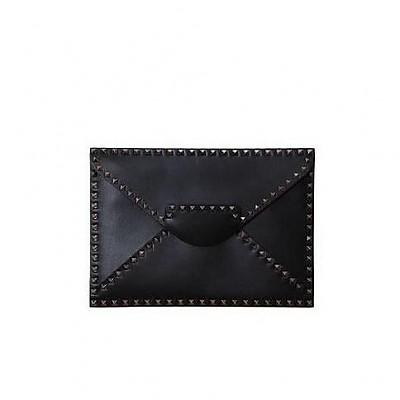 [스페셜오더]VALENTINO-MY2B0100 발렌티노 블랙 루테늄 락스터드 언타이틀 클러치