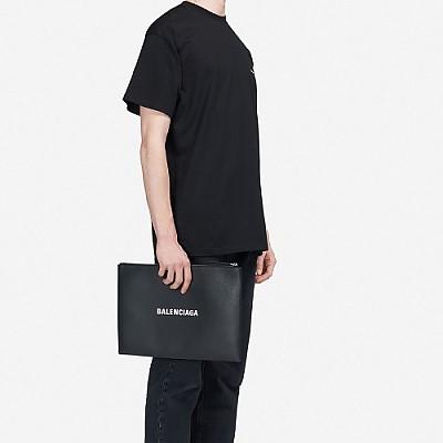 [스페셜오더]BALENCIAGA-485112 발렌시아가 블랙 미디엄 쇼핑 클립 L 지퍼 케이스