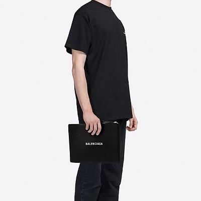 [스페셜오더]BALENCIAGA-485112 발렌시아가 블랙 스몰 쇼핑 클립 L 지퍼 케이스