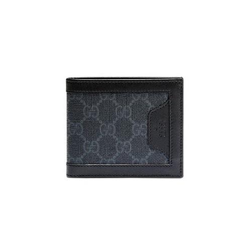 GUCCI-322141 1078 구찌 블랙 GG 수프림 Bi-fold 이미테이션 남성 반지갑