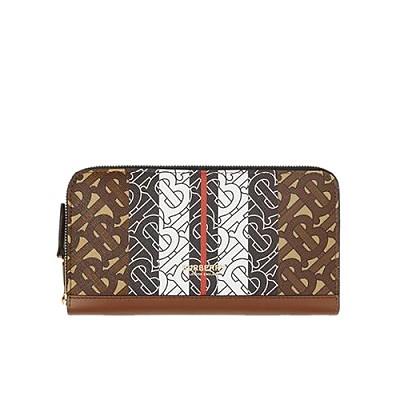 [스페셜오더]BURBERRY-80183271 버버리 모노그램 스트라이프 지퍼라운드 지갑