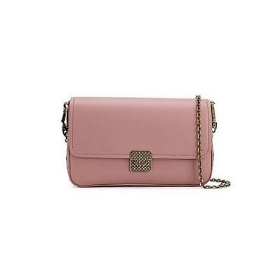 [스페셜오더]BOTTEGA VENETA-547023 보테가 베네타 데코 로즈 나파 플랩 체인 지갑