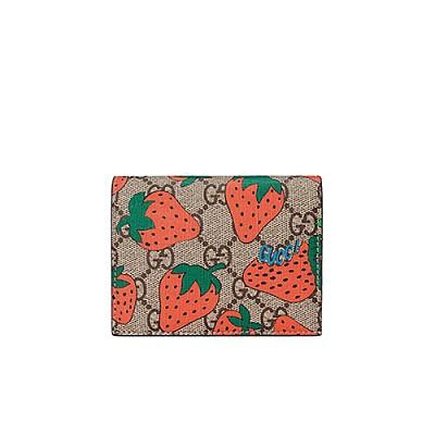 [스페셜오더]GUCCI-573839 8483 구찌 스트로베리 프린트 GG 카드 케이스