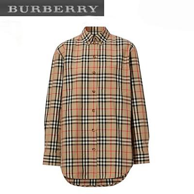 BURBERRY-80227971 버버리 버튼 다운 칼라 빈티지 체크 셔츠