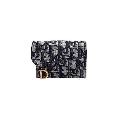 [스페셜오더]Christian Dior-S5621 크리스찬 디올 블루 오블리크 새들 플랩 미니 지갑