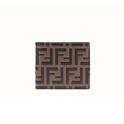 [스페셜오더]FENDI-7M0169 팬디 브라운/블랙 FF 패턴 프린트 반지갑