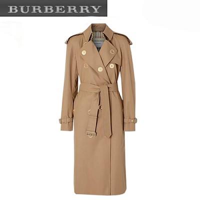 BURBERRY-45483371 버버리 프레스 스터드 디테일 개버딘 트렌치코트