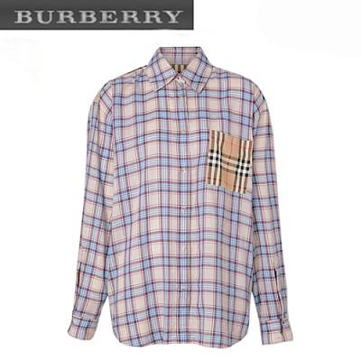 BURBERRY-80169001 버버리 빈티지 체크 패널 체크 보일 셔츠