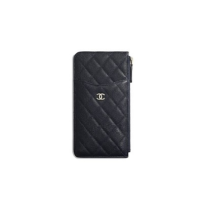 CHANEL-AP0225 샤넬 블랙 캐비어 iPhone 클래식 파우치