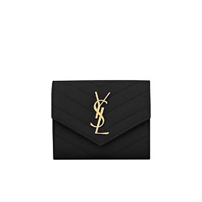 [스페셜오더]SAINT LAURENT-403943 생 로랑 모노그램 골드메탈 컴팩트 3단 지갑