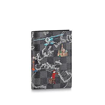 [스페셜오더]LOUIS VUITTON-N40203 루이비통 다미에 그라파이트 프린트 장식 패스포트 커버