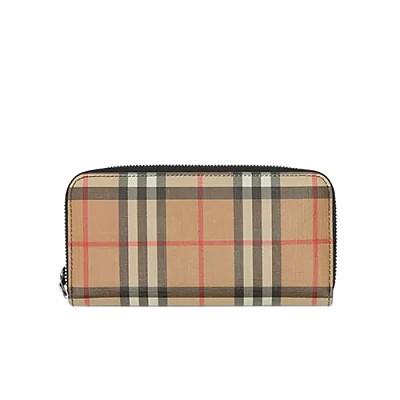 [스페셜오더]BURBERRY-80151251 버버리 빈티지 체크 지퍼라운드 지갑