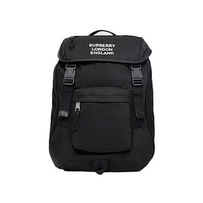 [스페셜오더]BURBERRY-80181131 버버리 블랙 로고 프린트 ECONYL 에코닐 백팩