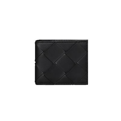 [스페셜오더]BOTTEGA VENETA-113993 보테가 베네타 블랙 인트레치아토 나파 폴더 이미테이션반지갑