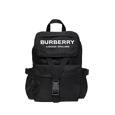 [스페셜오더]BURBERRY-80141301 버버리 블랙 스몰 로고 프린트 백팩