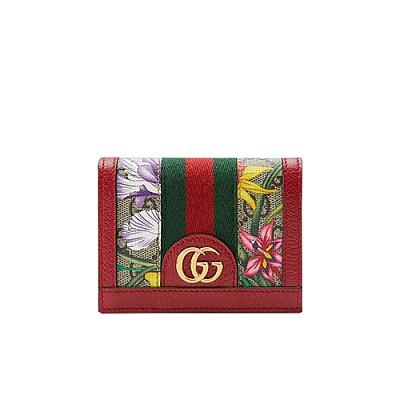 [스페셜오더]GUCCI-523155 8722 구찌 오피디아 레드 GG 플로라 카드 케이스 지갑