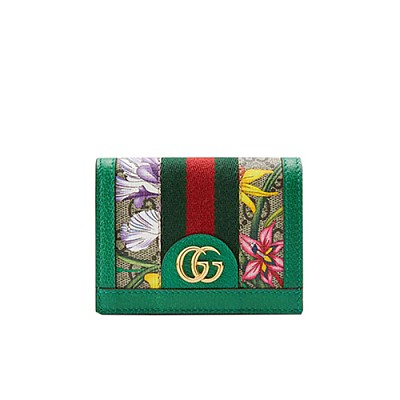 [스페셜오더]GUCCI-523155 8709 구찌 오피디아 그린 GG 플로라 카드 케이스 지갑