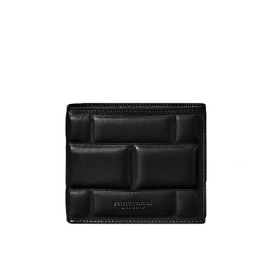 [스페셜오더]BOTTEGA VENETA-592778 보테가 베네타 블랙 패딩 폴더형 지갑