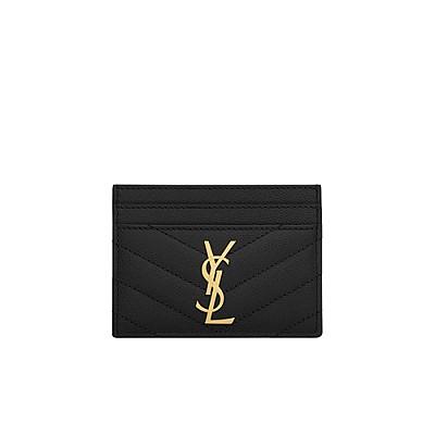 [스페셜오더]SAINT LAURENT-423291 생 로랑 블랙 골드 모노그램 신용카드 케이스
