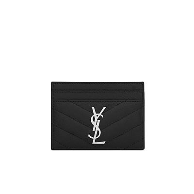 [스페셜오더]SAINT LAURENT-423291 생 로랑 블랙 실버 모노그램 신용카드 케이스