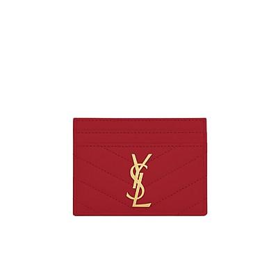 [스페셜오더]SAINT LAURENT-423291 생 로랑 레드 모노그램 신용카드 케이스