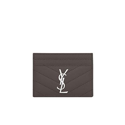 [스페셜오더]SAINT LAURENT-423291 생 로랑 그레이 모노그램 신용카드 케이스