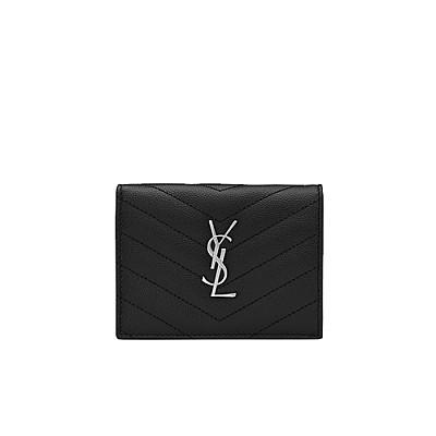 [스페셜오더]SAINT LAURENT-530841 생 로랑 블랙 실버 모노그램 카드 홀더