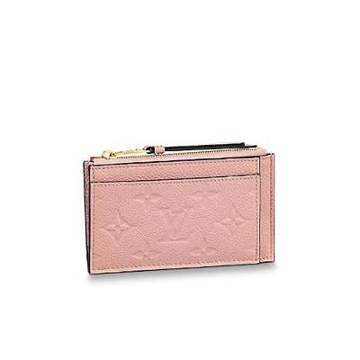 [스페셜오더]LOUIS VUITTON-M67853 루이비통 로즈 푸드르 핑크 모노그램 앙프렝뜨 지퍼 카드 홀더