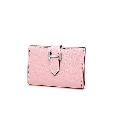 [스페셜오더]HERMES-H005 에르메스 핑크 베안 반지갑