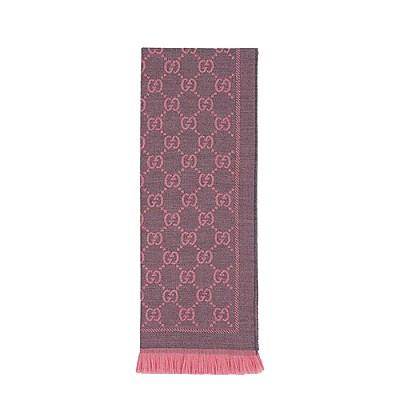 GUCCI-133483 1272 구찌 핑크 GG 자카드 패턴 니트 스카프