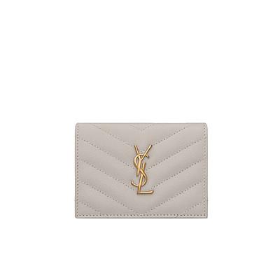 [스페셜오더]SAINT LAURENT-530841 생 로랑 화이트 그랑 드 뿌드르 모노그램 지갑
