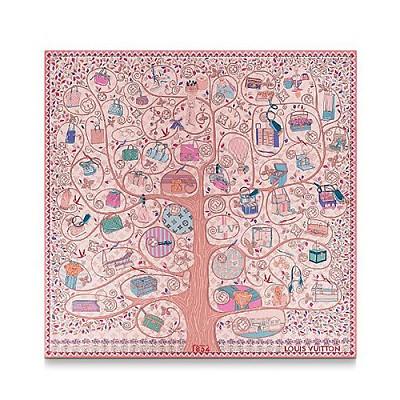 LOUIS VUITTON-M76136 루이비통 핑크 트리 오브 루이 스퀘어