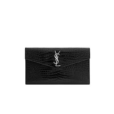 [스페셜오더]SAINT LAURENT-565739 생 로랑 블랙 크로커다일 업타운 파우치