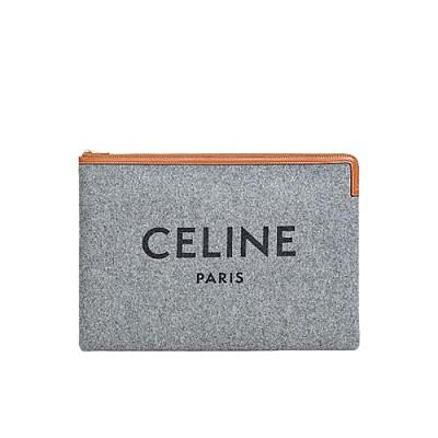 [스페셜오더]CELINE-10B802 셀린느 블루 울 라지 파우치