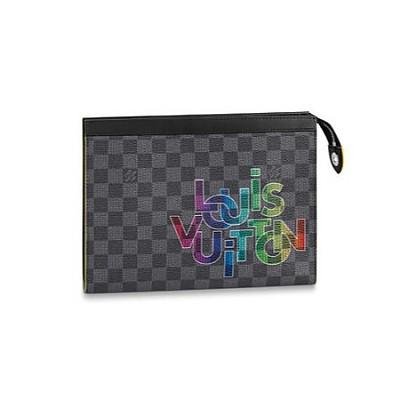 [스페셜오더]LOUIS VUITTON-N60307 루이비통 다미에 그라파이트 옐로우 레터링 포쉐트 보야주 MM