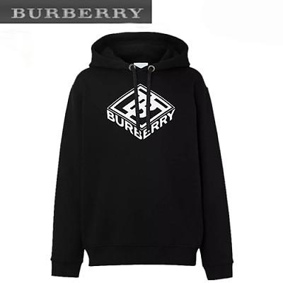 BURBERRY-45596711 버버리 블랙 로고 그래픽 후디 남여공용