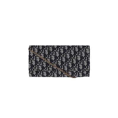 [스페셜오더]Christian Dior-S5401 크리스찬 디올 블루 오블리크 체인 지갑/클러치 백