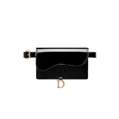 [스페셜오더]Christian Dior-S5619 크리스찬 디올 블랙 페이던트 SADDLE 새들 벨트 클러치 이미테이션백