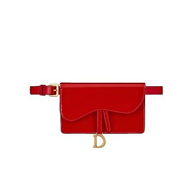 [스페셜오더]Christian Dior-S5619 크리스찬 디올 레드 페이던트 SADDLE 새들 벨트 클러치 레플리카백