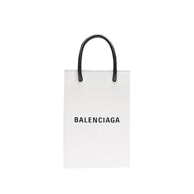 [스페셜오더]BALENCIAGA-593826 발렌시아가 화이트 스퀘어 쇼핑 휴대폰 지갑 백