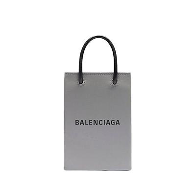 [스페셜오더]BALENCIAGA-593826 발렌시아가 그레이 스퀘어 쇼핑 휴대폰 지갑 백